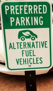 AFV Preferred Parking Sign