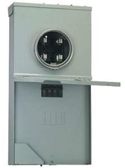 200 Amp 4-Space 8-Circuit Meter Socket Load Center