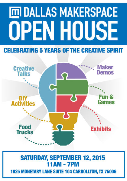 Dallas Makerspace Open House 2015