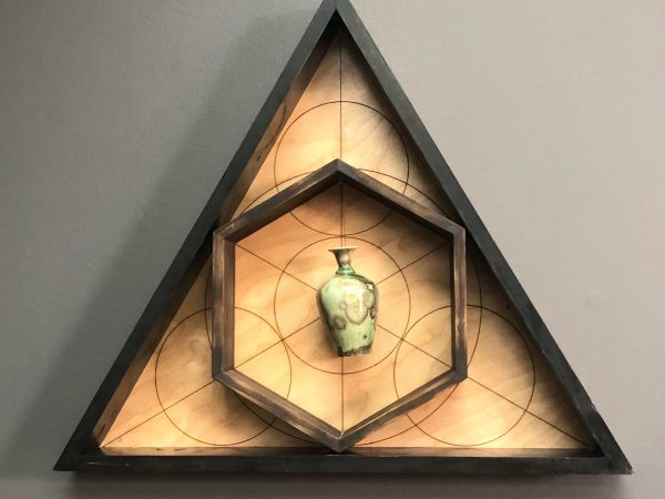TecumsehsRevenge Lasercut Wooden Frame with Micrcrystalline Glazed Ceramic Vase 2