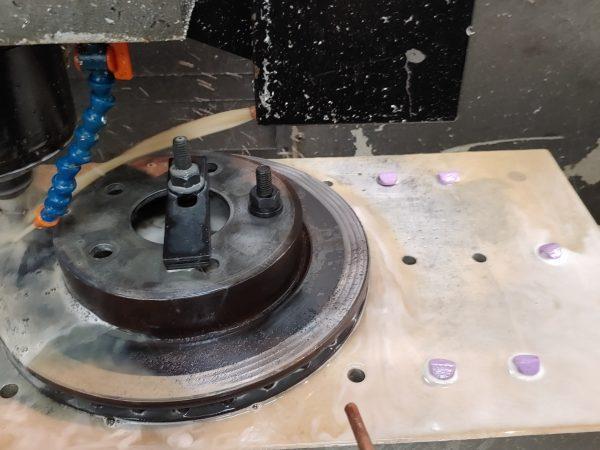ethanwestern HAAS resurface brake rotor 03