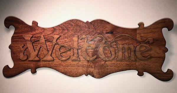 nicksilva Mesquite Scrap Welcome Sign